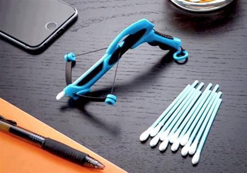 Armbrust für Wattestäbchen