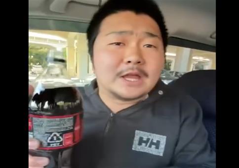 Cola und Mentos im Auto