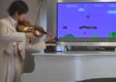 Super Mario auf der Violine
