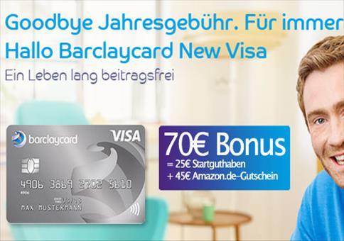Beitragsfreie VISA + 70€ Bonus!
