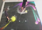 Led-Boden mit Bewegungs-Tracking