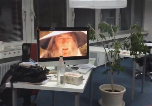 Bei Langeweile im Büro
