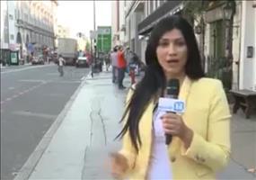 Fahrradfahrer als Videobomber