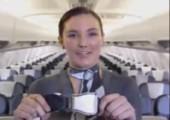 Blanke Sicherheitseinweisungen im Flugzeug