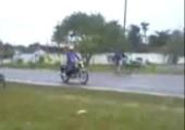 Rückwärtssalto vom Fahrrad