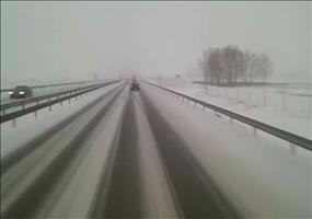 Schlingerpartie auf der Autobahn