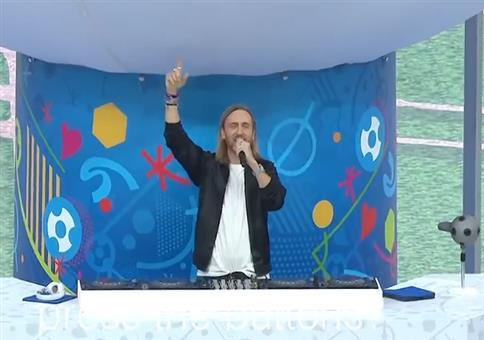 David Guetta bei der EM 2016 Eröffnugsshow