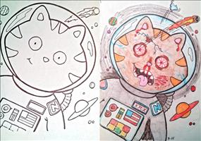 Kreativität in Malbüchern
