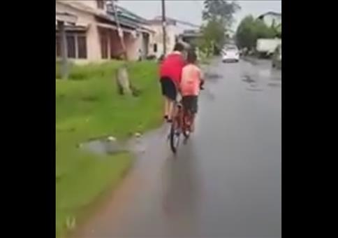 Teamwork auf dem Fahrrad