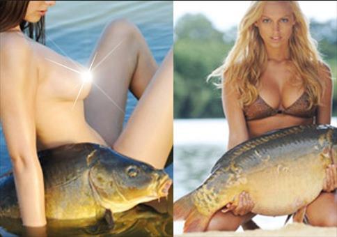 Sexy Frauen und ähm... Fische