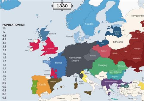 Die Geschichte Europas im Zeitraffer