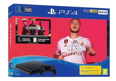 PS4 4 Slim 500GB + FIFA 20 Ultimate Team für 224,10€