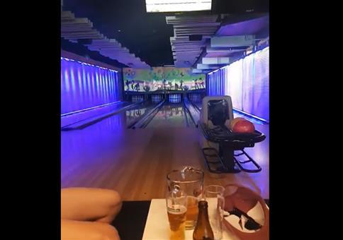 Strike beim Bowling mit minimalen Aufwand