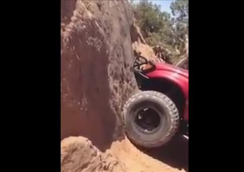 Mit dem Auto die Wand hoch