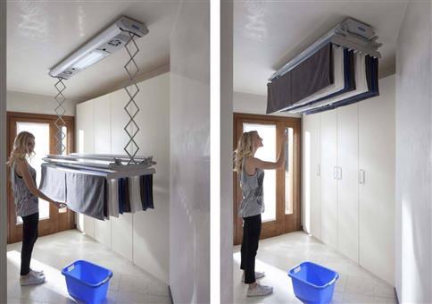 Elektrischer Wäscheständer für Wand oder Decke