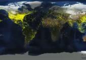 Weltweiter Luftverkehr in einer 24 Stunden Zeitraffer