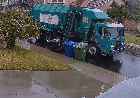 Heute wird die Mülltonne abgeholt