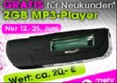 Gratis 2GB MP3 Player bei Quelle