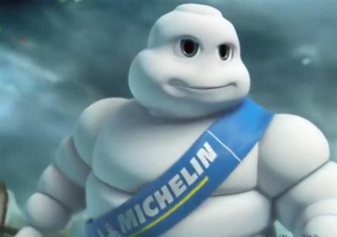 Der Michelin Mann ist ne fiese Sau