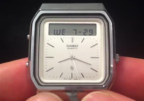 Casio Armbanduhr mit Gestensteuerung aus dem Jahre 1984