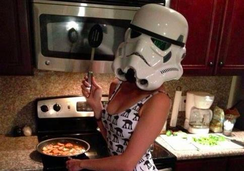 Stormtrooper in der Küche