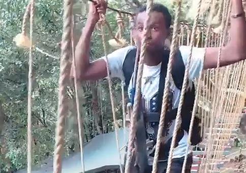 Komplette Aufgabe im Kletterwald