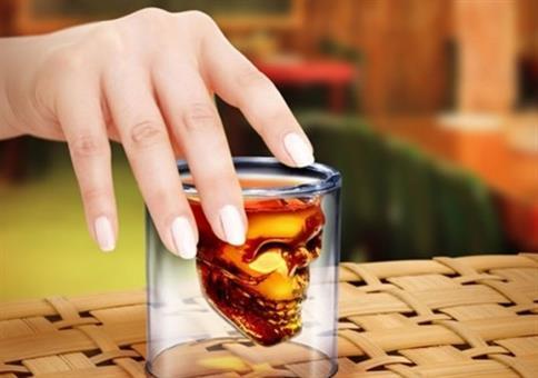 Totenkopf-Glas für 0,84€