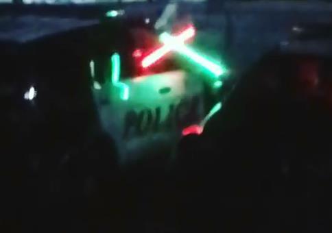 Nächtliches Polizeitraining