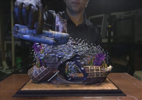 Fischschwarm in der virtuellen Realität