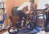 Fahrrad auf Laufband
