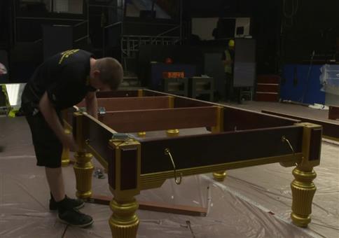 Snooker Tisch aufbauen