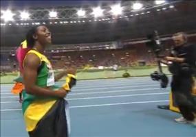Kameramann Fail bei der IAAF in Moskau