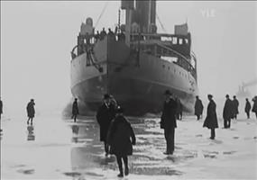 Eisbrecher bei Helsinki in den 1920er Jahren