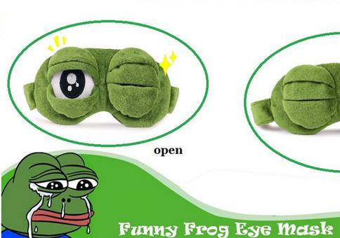 Pepe der Frosch Schlafmaske