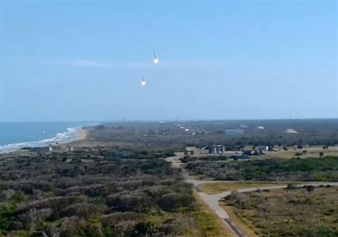 SpaceX Falcon Heavy landet im Doppelpack
