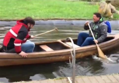 Wenn man falschrum im Boot sitzt