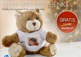 GRATIS: Teddybär mit eigenem Foto kostenlos