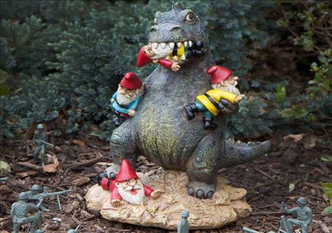 Dinosaurier Gartenzwerg Massaker