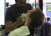 Echte türkische Rasur
