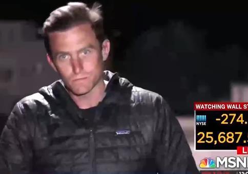 Wenn sich der Live-Reporter erstmal sein Haar richtet