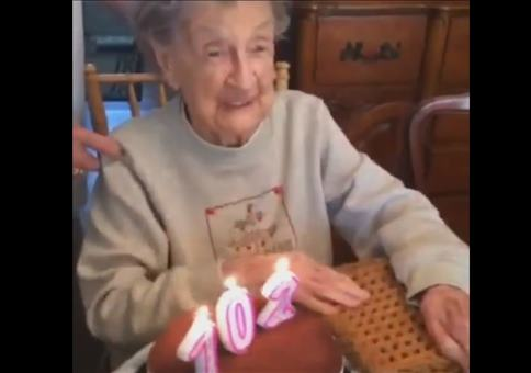 Oma hat Geburtstag