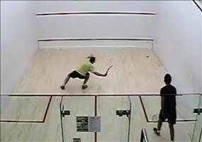 Eine kleine intensive Runde Squash