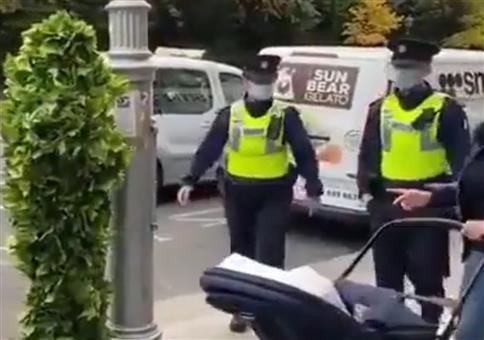 Irische Polizisten erschrecken