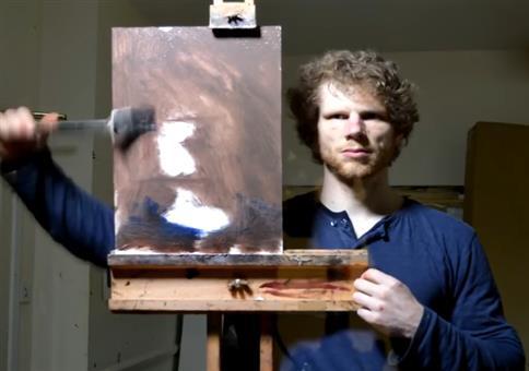Selbstportrait von hinten zeichnen