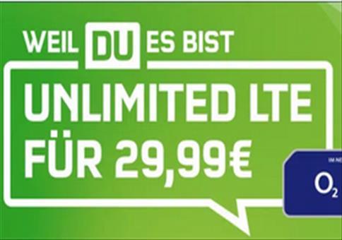Unlimited LTE für 29,99€ mtl.