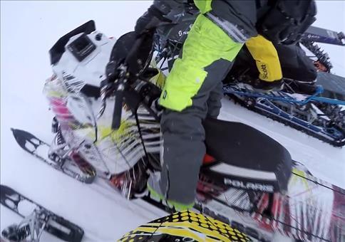 Streich mit dem Schneemobil