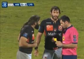 Gelbe Karte beim Rugby