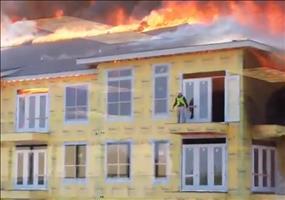 Rettung in letzter Sekunde vor den Flammen