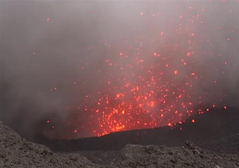 Etwas zu nah am Vulkankrater