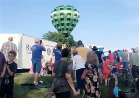 Rüdiger auf wilder Ballonfahrt